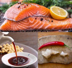 Cách chế biến cá hồi áp chảo sốt xì dầu