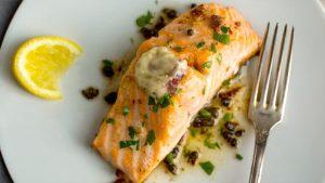 Cách làm cá hồi nướng phô mai
