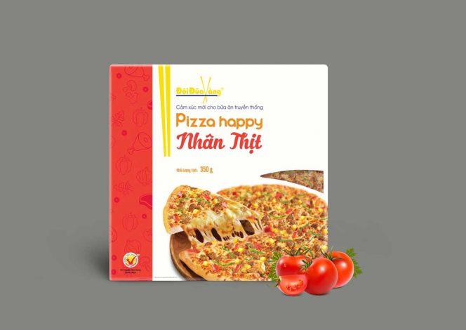 Pizza nhân thịt