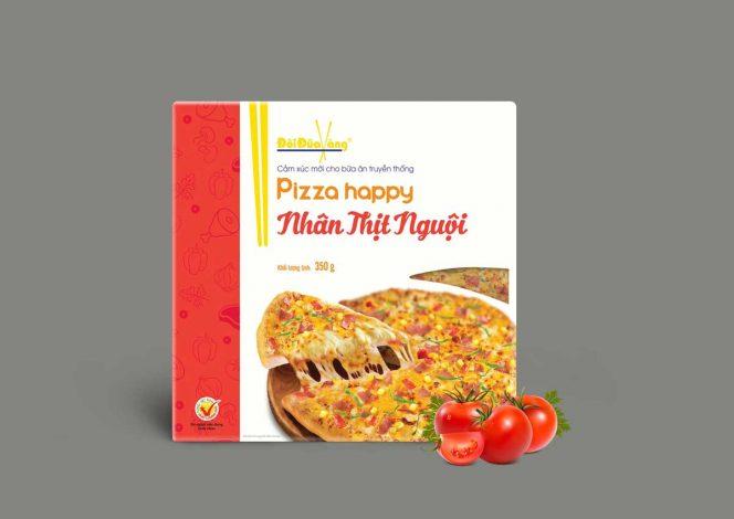 pizza nhân thịt nguội