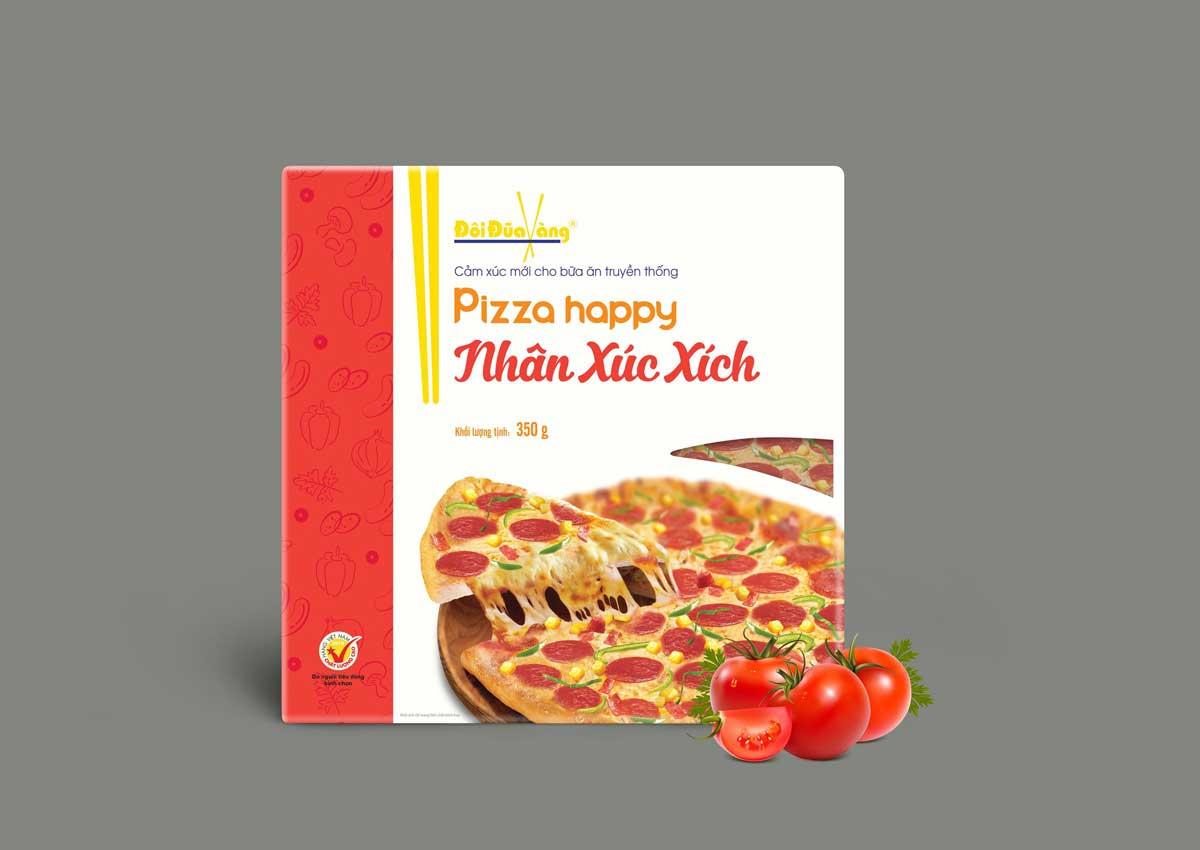 pizza nhân xúc xích